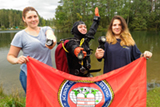 6 августа группа девочек: Марина, Катя и Маша прошли курс подводной навигации и познакомились с одним из важнейших навыков технического дайвера, ориентированием подводой.