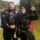 Поздравляем, Марину с успешным прохождением курса Dry Suit Diver SDI по методике Школы технического дайвинга на открытой воде в условиях плохой видимости. Марина, выполнила все необходимые упражнения в нейтральной плавучести в толще воды без видимости дна.