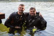 Сегодня Александр и Денис начали курс первоначального обучения дайвингу на открытой воде по методике STDE. Прошёл первый день, мы сделали два погружения, завтра продолжаем….